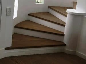 colocacion parquet en escalera