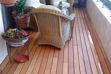 Tarima de madera para exteriores
